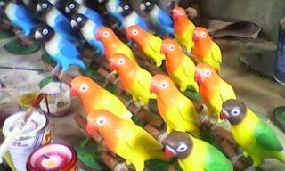 Patung Burung Love Bird