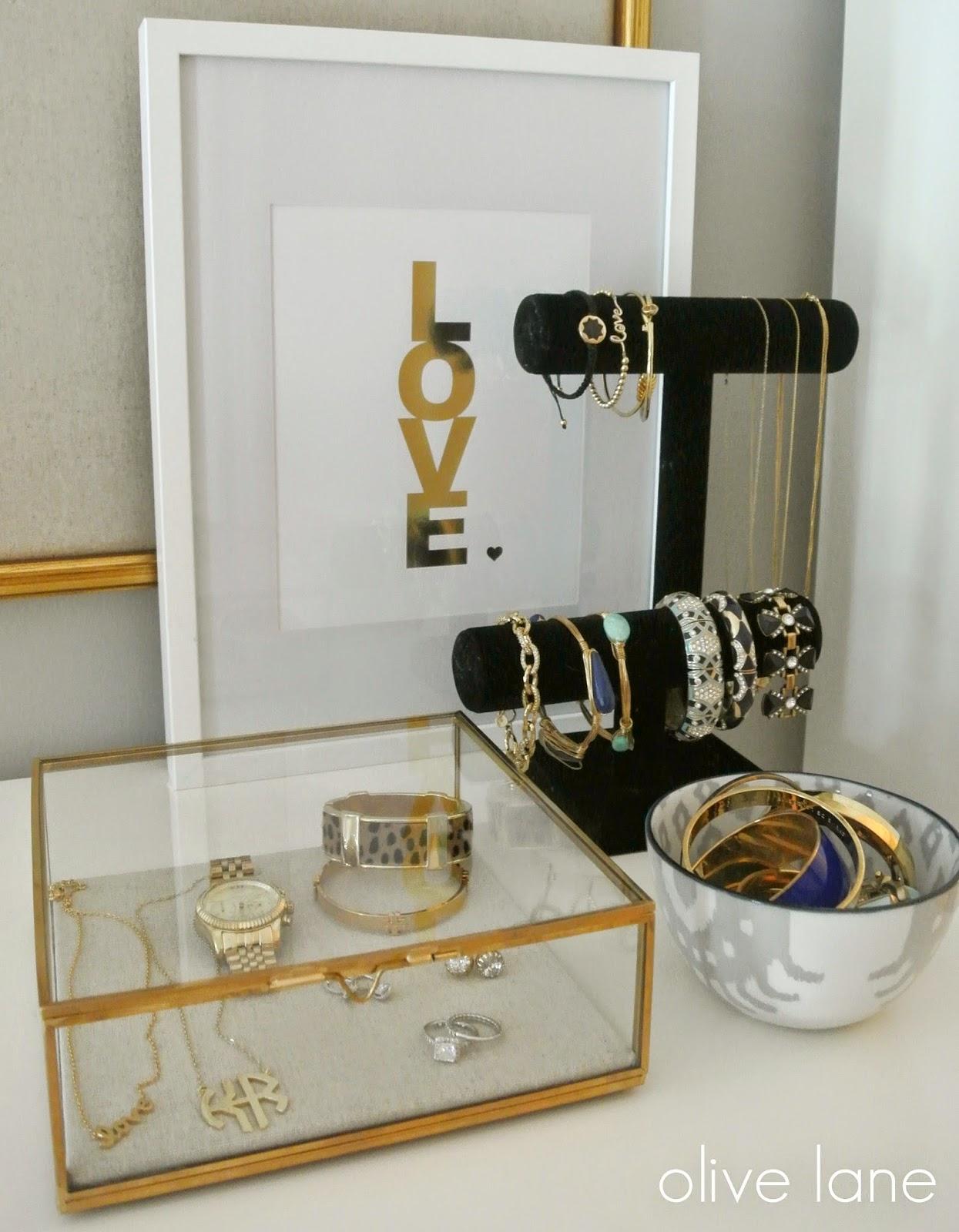 Organized Jewelry West Elm www.olivelaneinteriors.com