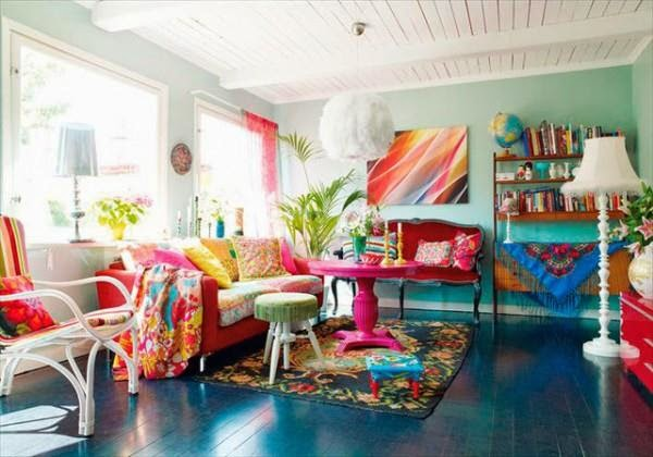Living Room Design and Ombre Hair Ideas: Colorful Living Room Designs