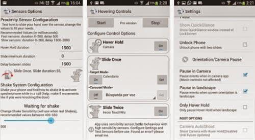 Aplikasi Android Menggeser Layar Tanpa Menyentuh