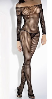 Crochet Net Long Sleeve Bodystocking