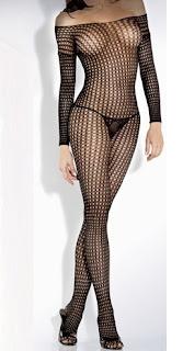 Crochet Net Long Sleeve Bodystocking