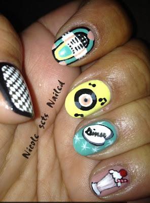 50's Nail Art
