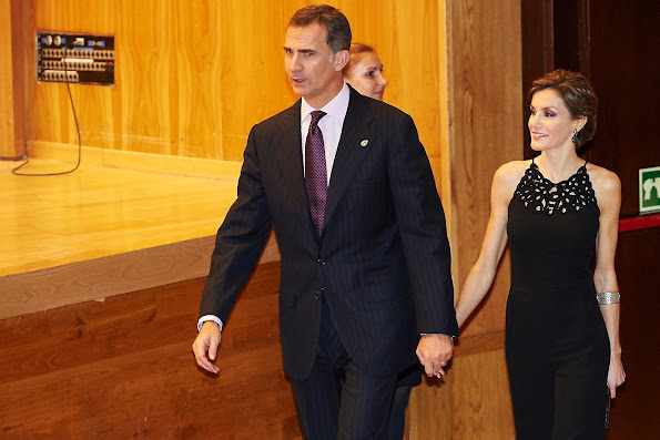King Felipe of Spain and Queen Letizia of Spain attended 'XXIV Music Week' closing concert at the Principe Felipe Auditorium during the 'Princess of Asturias Awards 2015