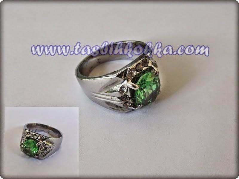Cincin Aquamarina hijau
