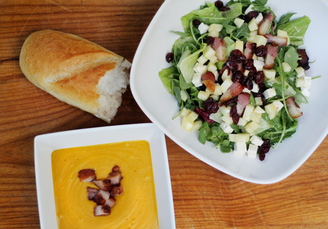 Autumn Soup & Salad: Roasted Squash and Sweet Potato Soup, with a ...