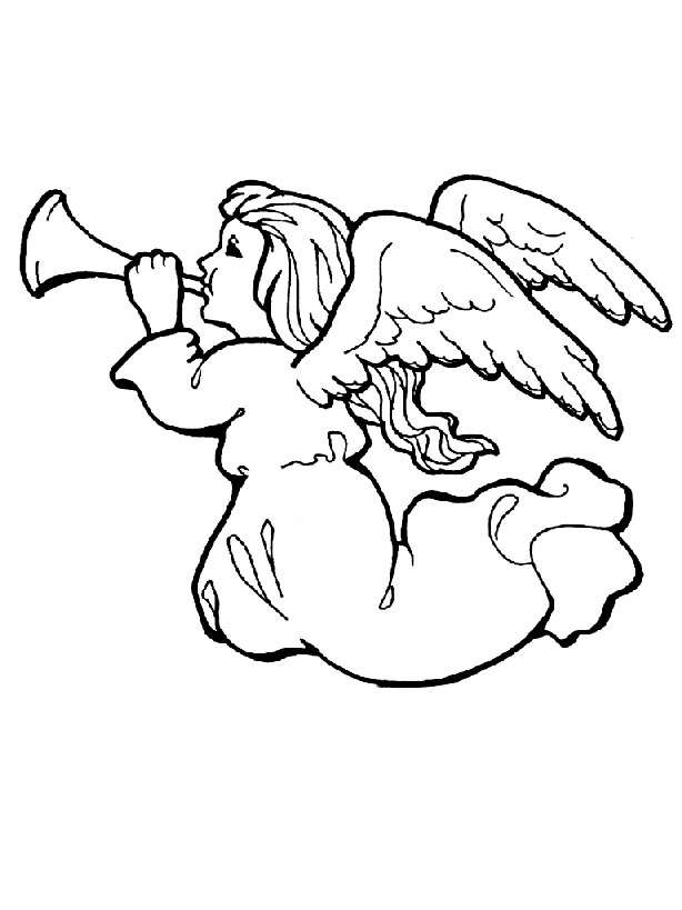 cute angels coloring pages - photo#5