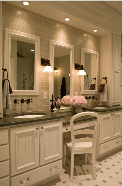 Traditional Bathroom Ideas Glamorous Of Bathroom Vanity with Sitting Area Photos