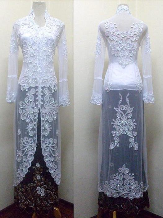 tentukan warna kebaya 1 bahan kebaya atau baju pengantin aksesori yang