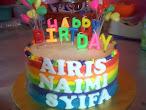 b'day cake-rainbow