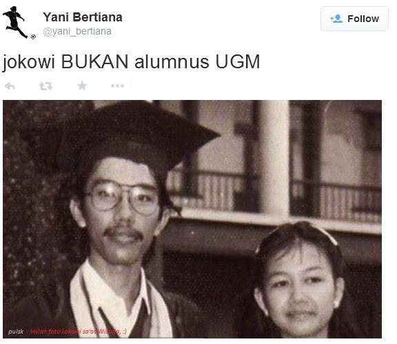 Kehutanan Ugm Jokowi Jokowi Bukan Alumnus Ugm