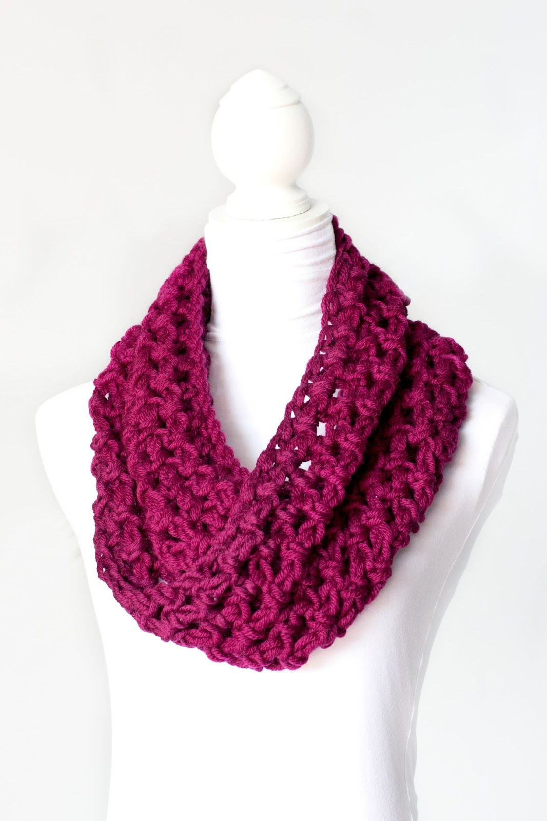 free crochet pattern bulky stacked shell cowl shrug ...