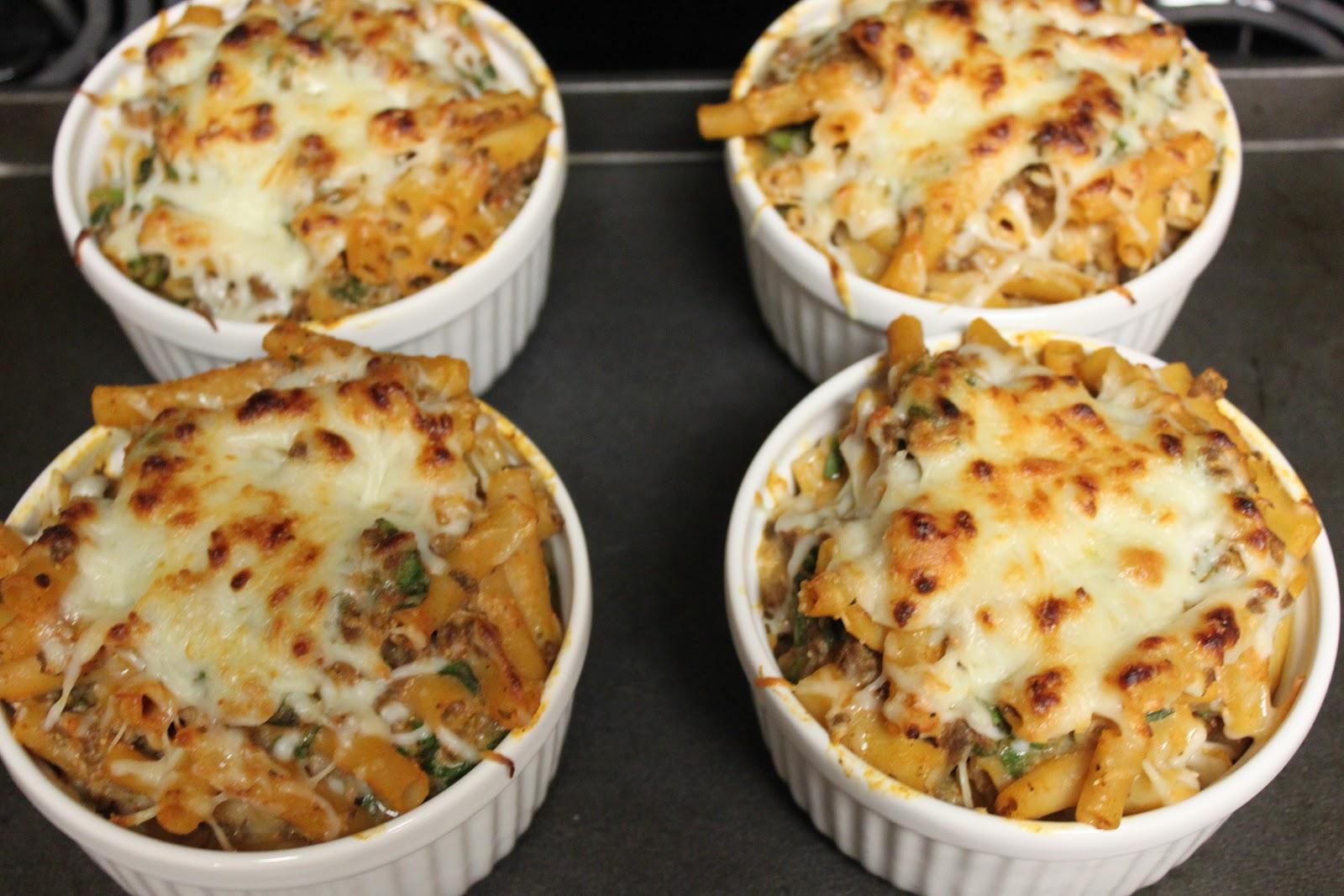 Three Marlenas: lasagna-style baked ziti