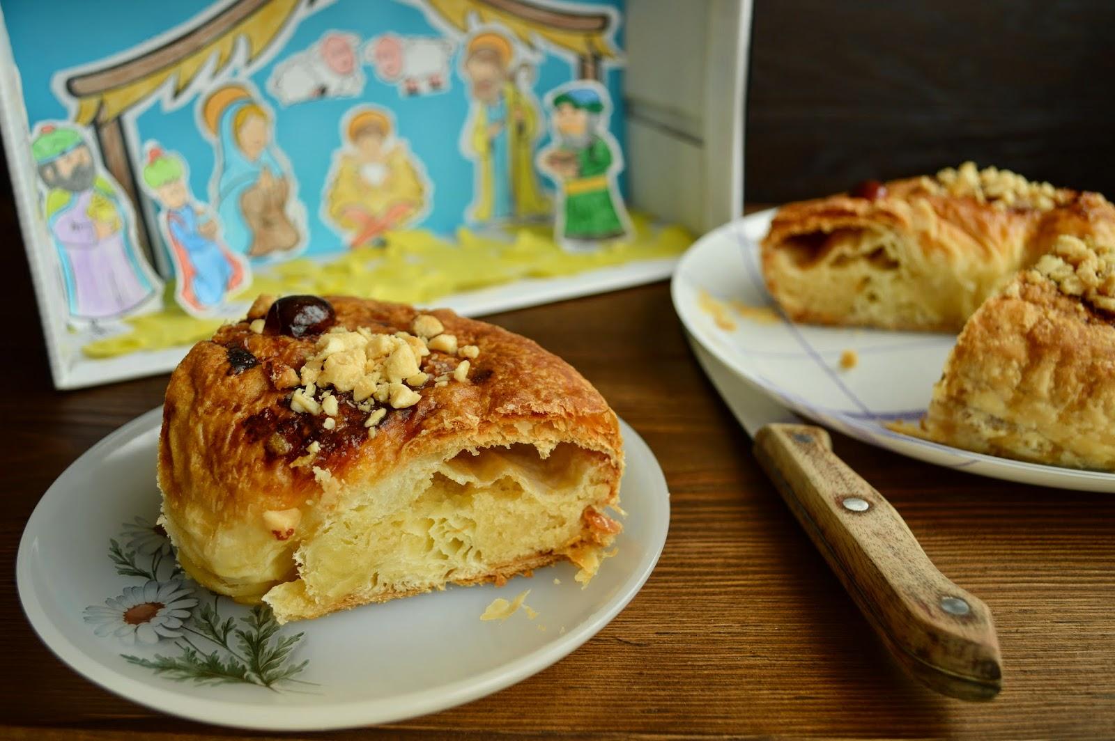 Roscón de Reyes, de hojaldre