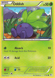Oddish Boundaries Crossed Pokemon Card