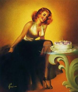 pintura feliz aniversário pin-up