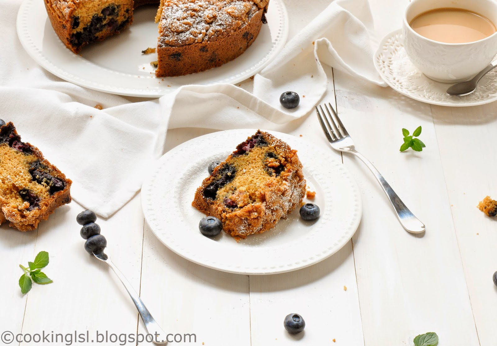 Blueberry-Coffee-Cake-Recipe-Frozen Blueberries-Breakfast