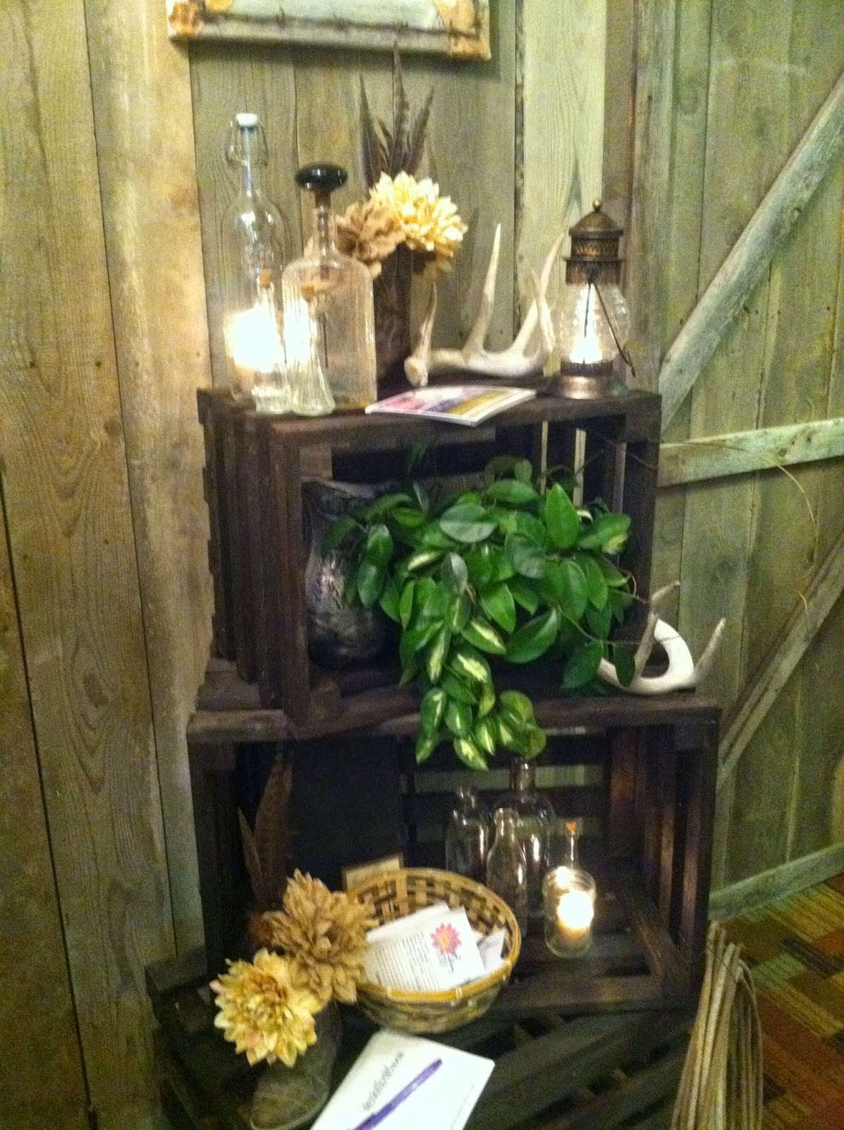 Props we created for the booth at the wedding fair