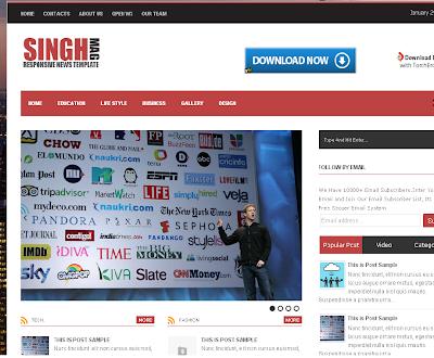 Singh Mag Blogger Template
