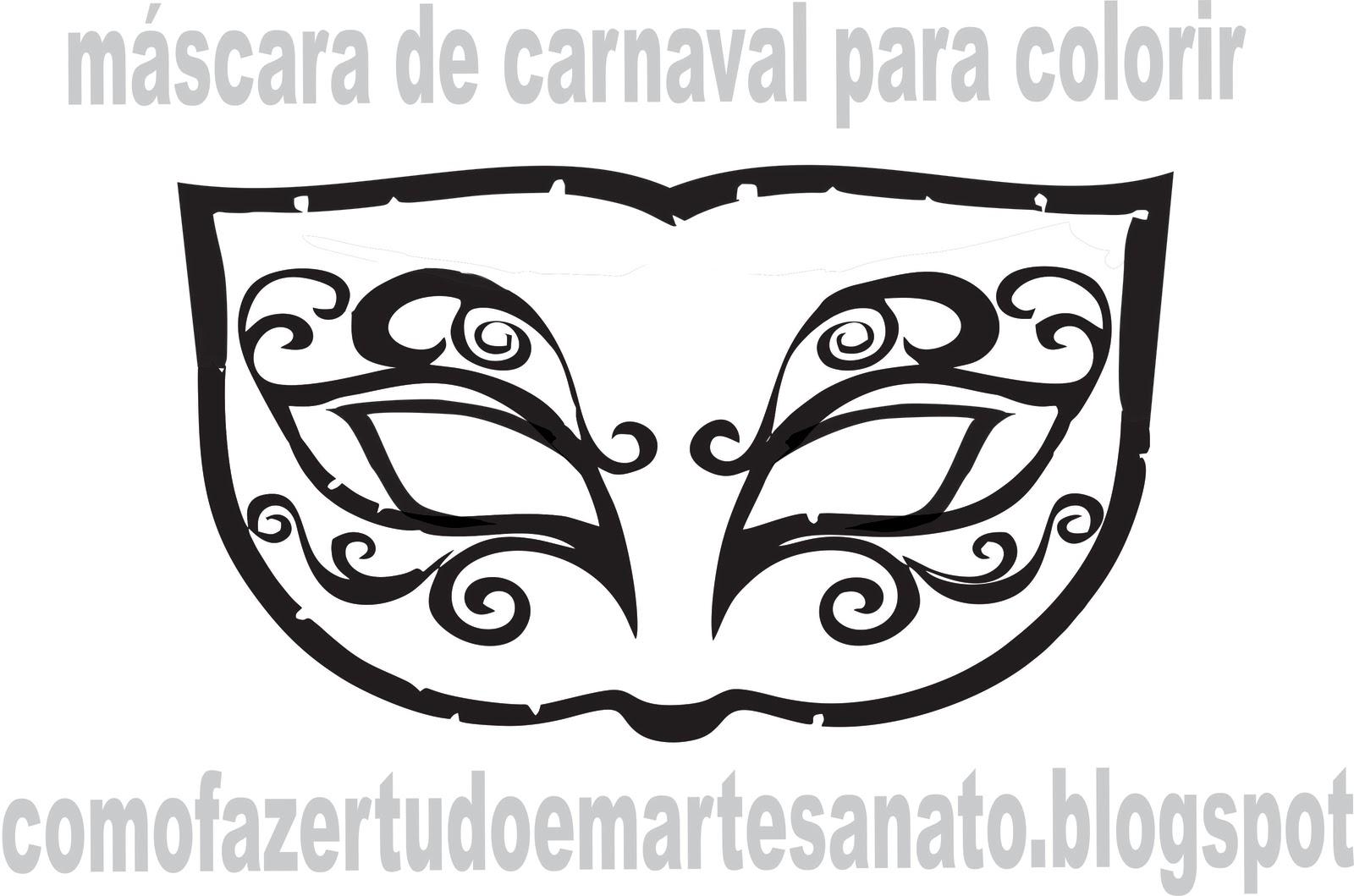 Aqui 2 Moldes De M  Scaras De Carnaval Para Colorir E Brincar