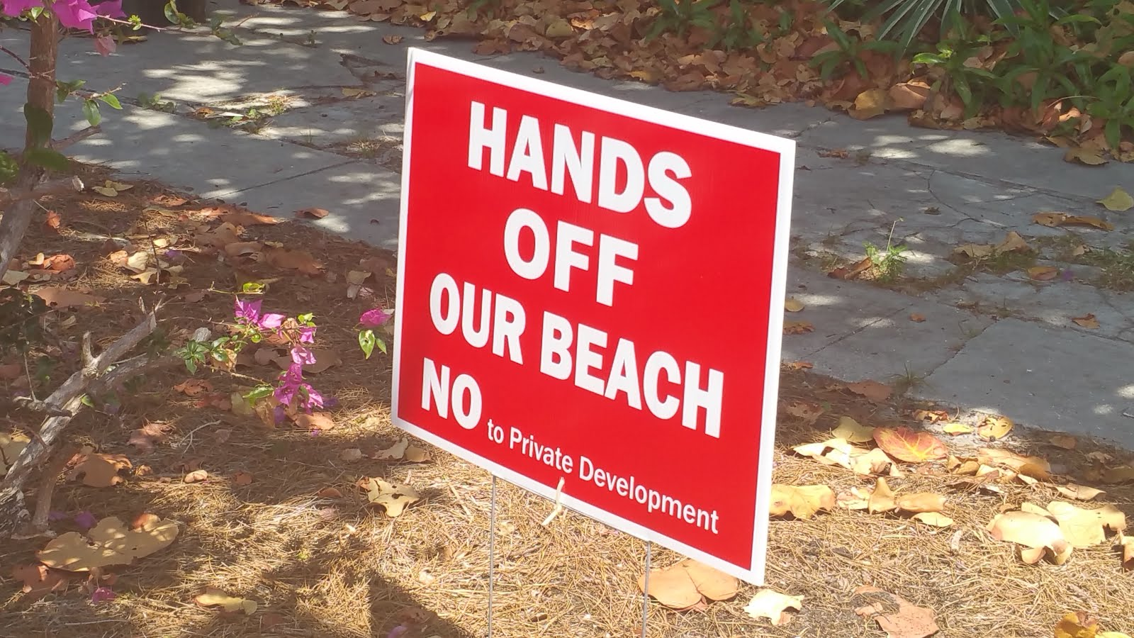 Nonsense. Our Beach is never 'For Sale'. Just more silliness in LDub.