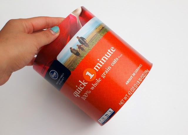 Trim Your Oatmeal box to make Valentine Card Box
