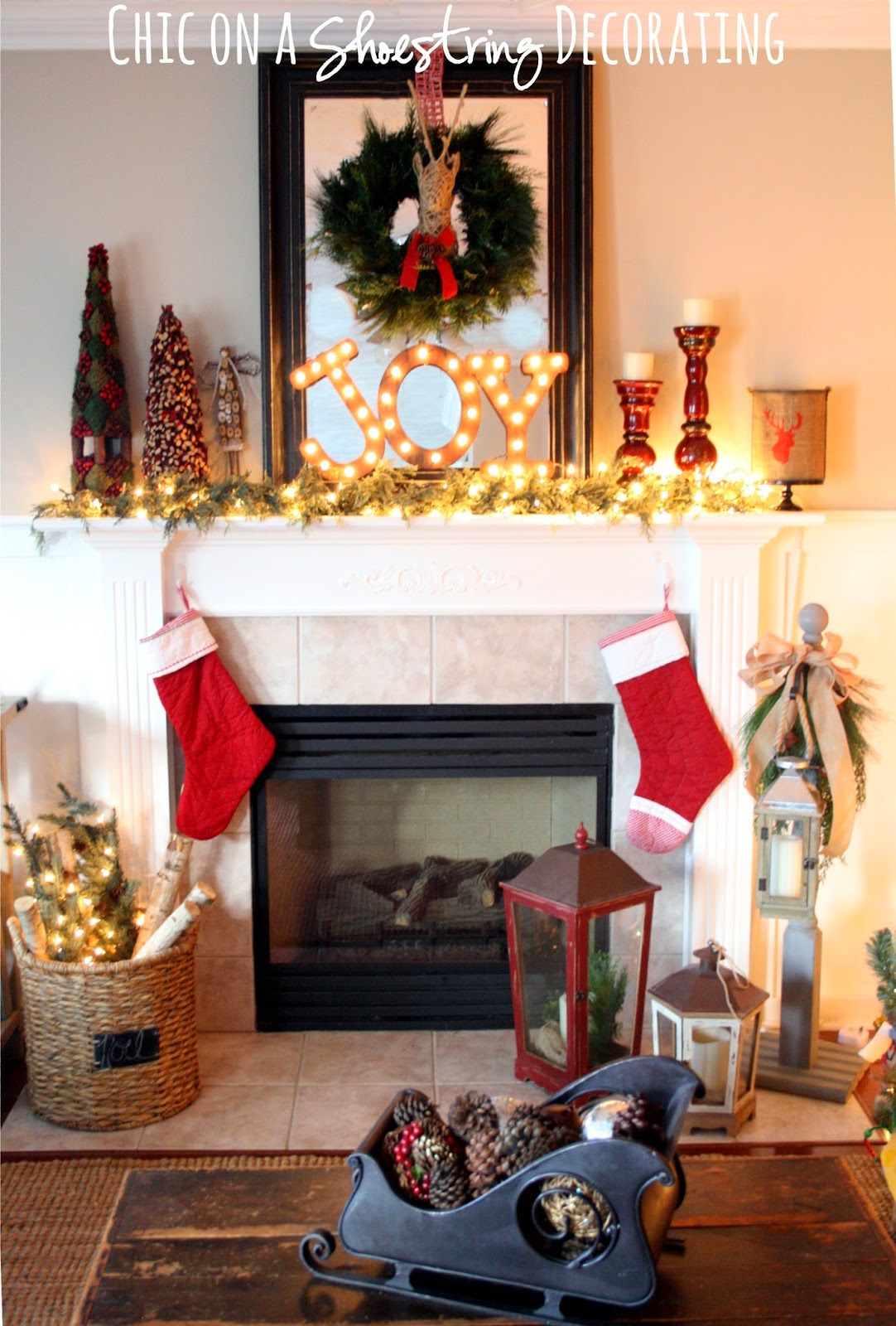 chic on a shoestring decorating christmas house tour