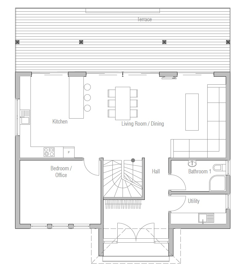 affordable home plans: economical house plan ch175