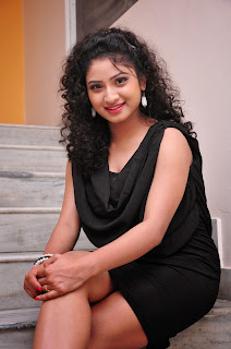 Actress Vishnu Priya  Pictures in Black Short Dress at Man of the Match Audio Release Function  0004