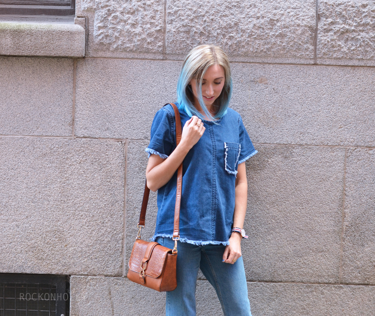 Double Denim on Rock On Holly Blog