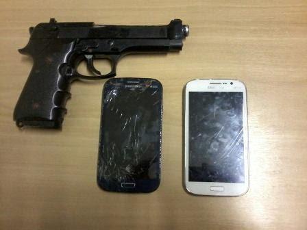 Adolescentes são apreendidos com uma réplica de pistola em Perdigão