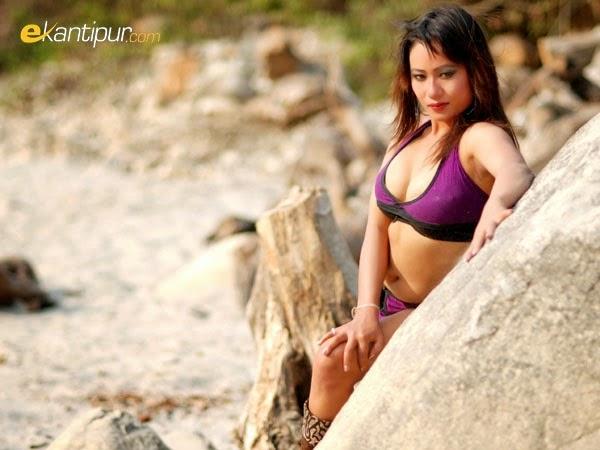Super Hot Cute Nepali Model Sangam Rai In Bikini PIcs