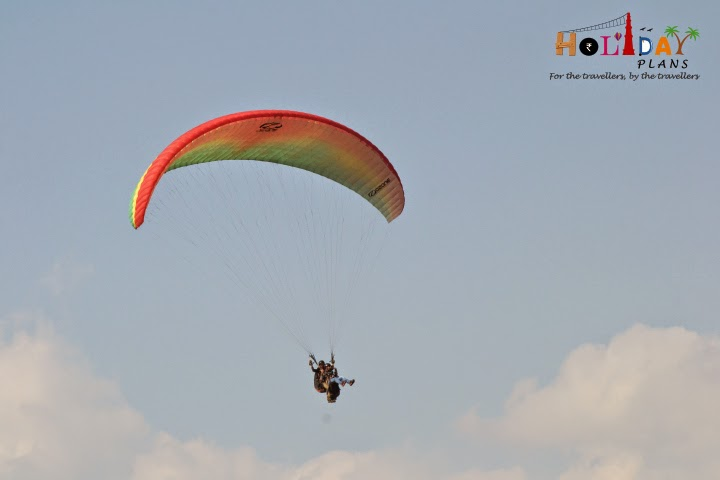 Abhishek with his paraglider wing