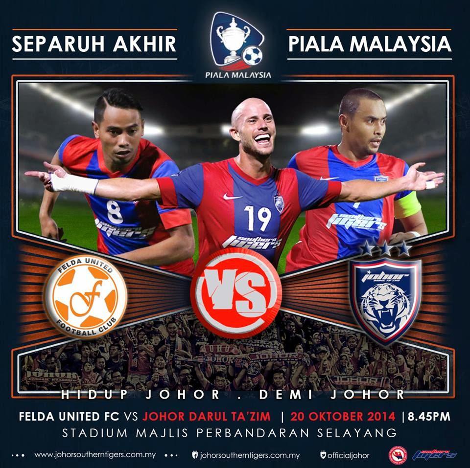 Video Gol Felda United vs JDT 20 Oktober 2014 Separuh Akhir