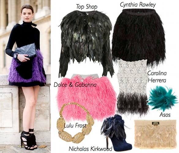 moda plumas