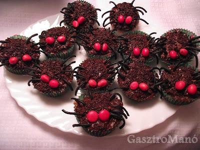 pók muffin recept