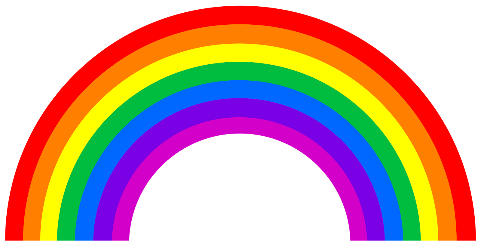 Library village toddler story time let 39 s make a rainbow for Rainbow templates to colour