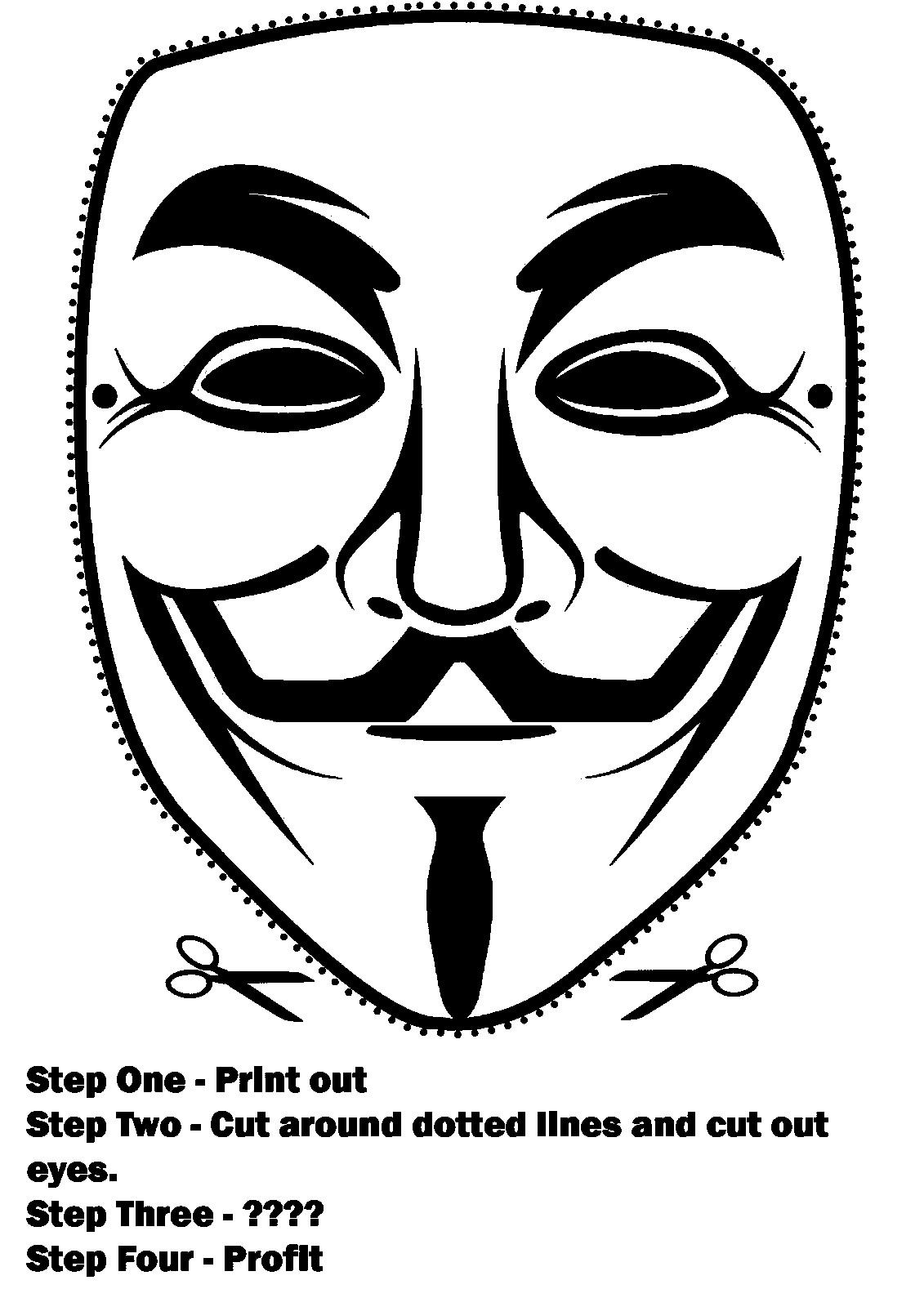 V For Vendetta Coloring Pages