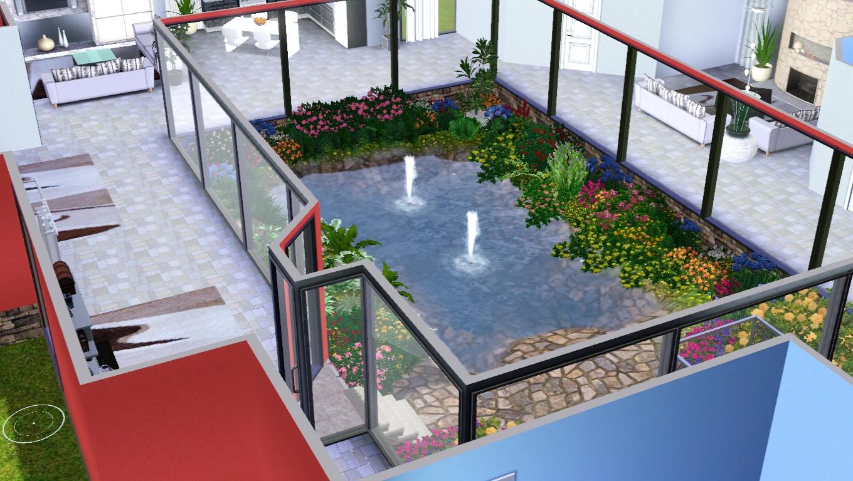 The sims giuly download e tutorial di the sims 3 villa - Giardino interno ...