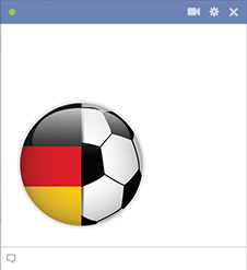 Germany football emoticon