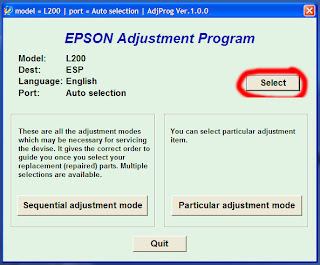 Pilih port USB epson t13x