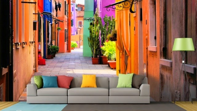 Spanish Street Mural Photo Wallpaper