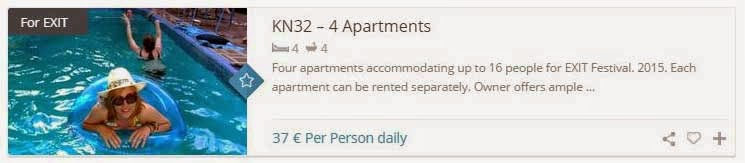 4 apartments for EXIT Festival 2015
