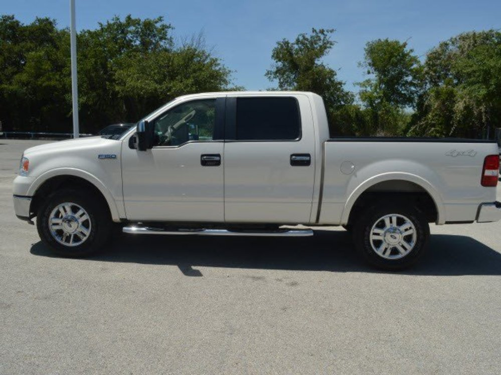 TDY Sales White FORD F LARIAT CREW CAB WD TRUCK - 2008 f150