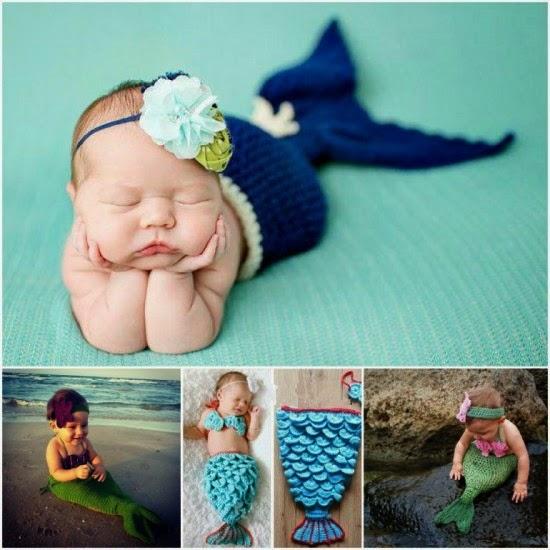 The Daily Mermaid Crocheted Baby Mermaid Tails