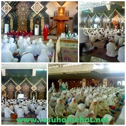 Pertemuan Calon Jama'ah Haji KBIH Ar Risalah bersama Gemahati & Susu Haji Sehat, Masjid At Tin TMII Jakarta