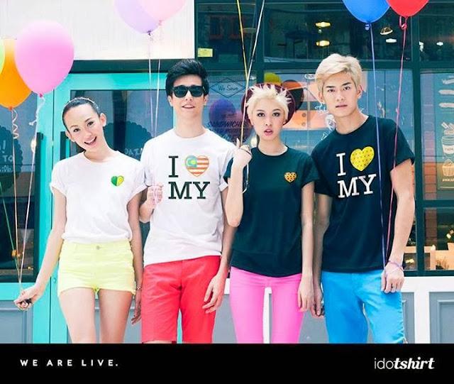 idotshirt, 16 hearts design, online tshirt design, trshirt design, model, i love malaysia tshirt