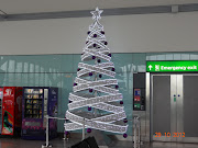Decorated Christmas tree at London Heathrow airport (dsc )