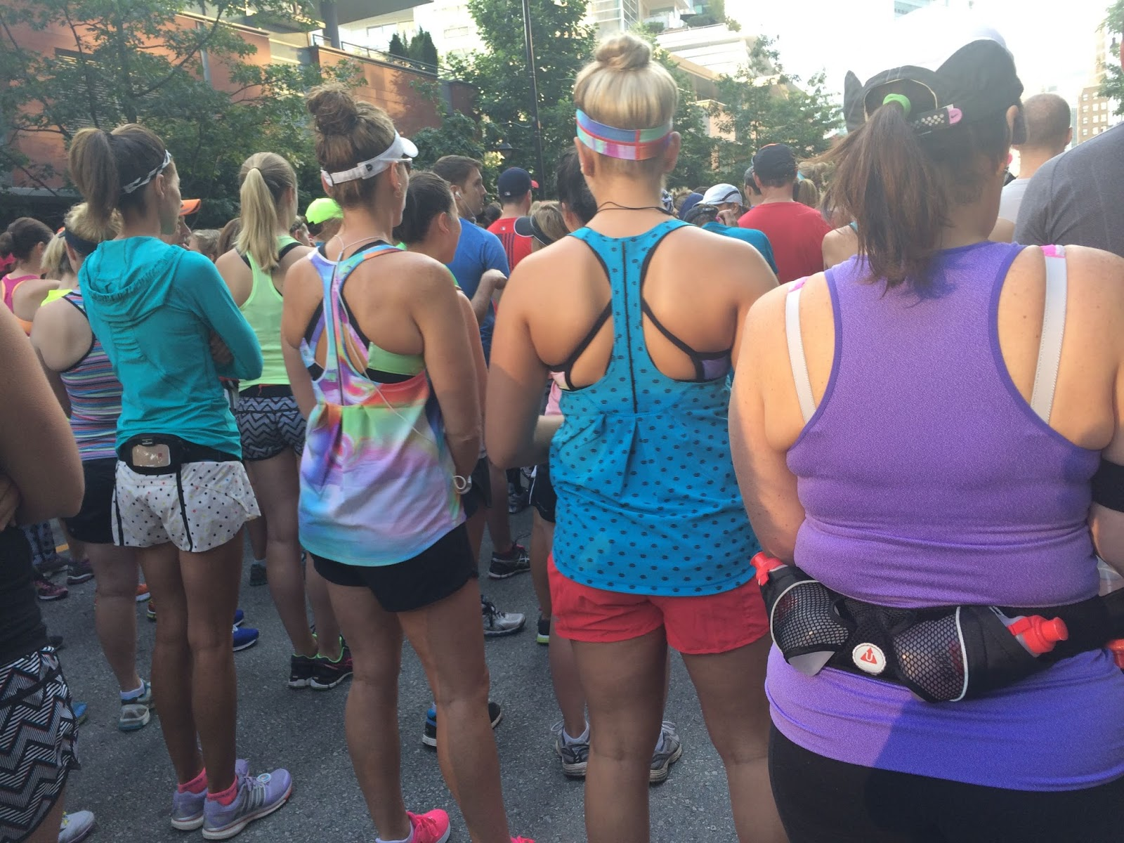 lululemon 2014 Sea Wheeze half marathon start corrals