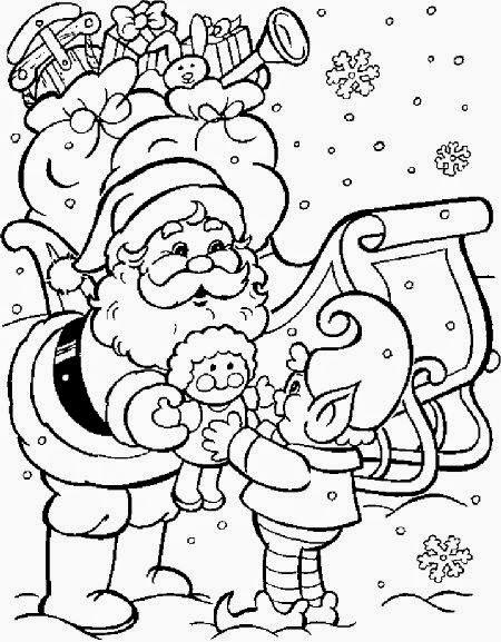 imagens para colorir papai noel - 40 Desenhos de Papai Noel para Colorir e Imprimir